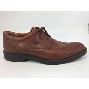 Ecco Tan Brown Wingtip Oxford Mens 7.5 Shoes